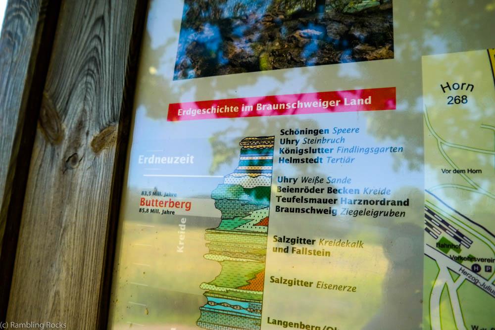 Informationsschild Erlebnispfad Bad Harzburg