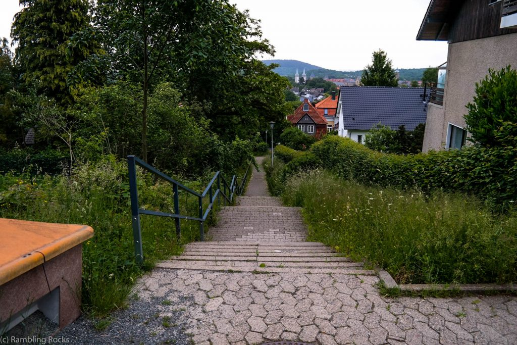 Steile Treppe in Goslar