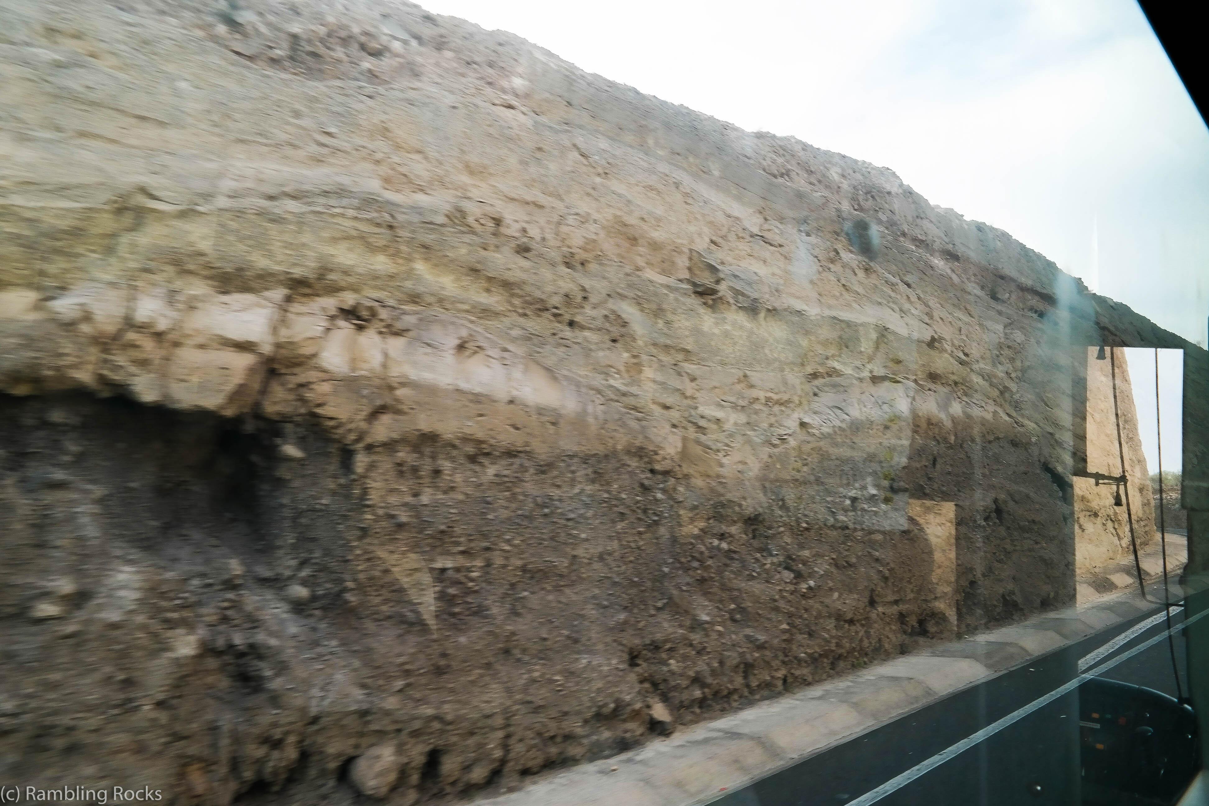 Vulkanschichten auf Teneriffa