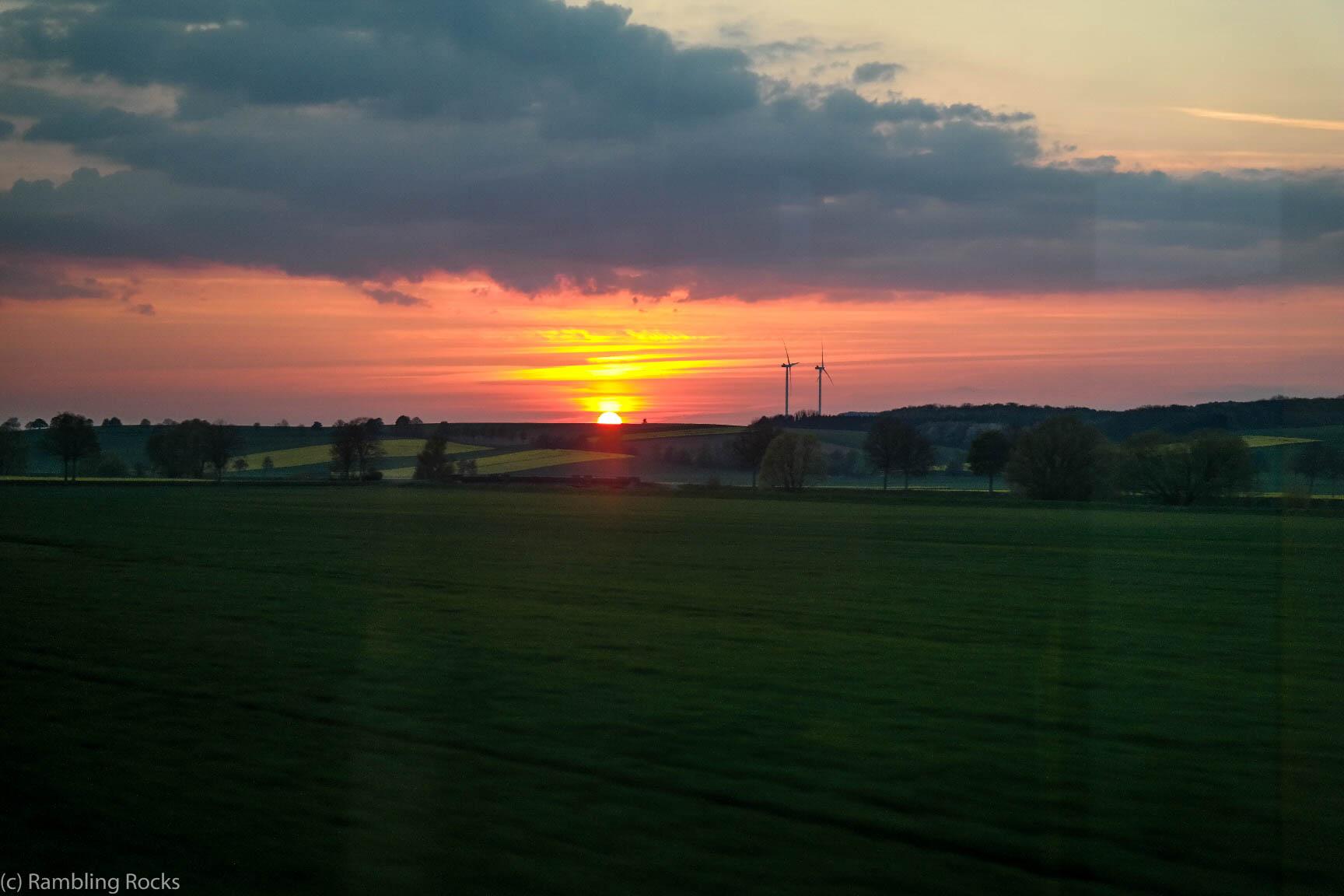 Sonneuntergang am Harz